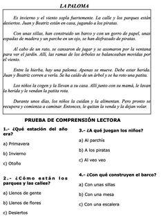 Fichas Infantiles: COMPRENSION LECTORA