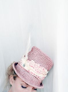 """kompott mit calamity jane"" hut zylinder rosé S 56 von dobedo: cloth & arts auf DaWanda.com"