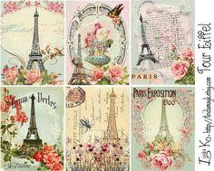 Paris Collage Sheet