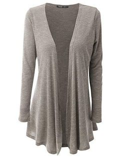 JayJay Women Open Front Casual Knit Long Sleeve Sweater Classic Cover Up Cardigan