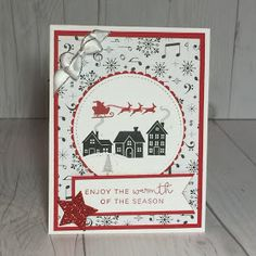 Hearts Come Home hand made Christmas Card from Stampin' Up!