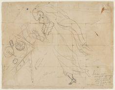 Marc Chagall (French, born Belarus. 1887–1985)  Study for Birthday