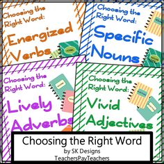 Encourage students to think about the words they choose for writing