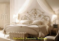 Love white wrought iron beds!