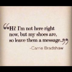 classic carrie bradshaw//