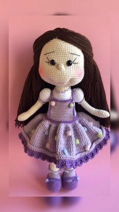Crochet handmade doll crochet toy amigurumi gift for girl Doll Amigurumi Free Pattern, Crochet Dolls Free Patterns, Amigurumi Doll, Baby Blanket Crochet, Crochet Baby Girls, Stuffed Toys Patterns, Handmade Toys, Cute Gifts, Etsy
