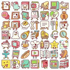 Back when we made 1000 #emojis #icons for #LINE #brosmind
