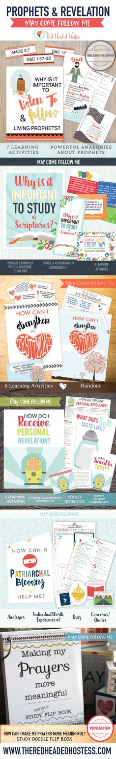 May Young Women Lessons (Come Follow Me). 6 amazing lessons with tons of learning activities. Such good stuff - just print and go!