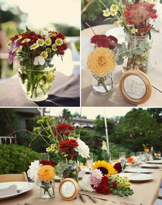 Butcher paper back yard wedding