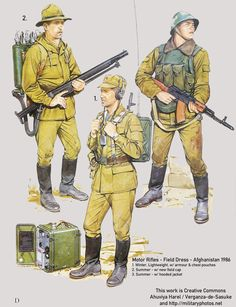 Soviet Uniforms - Afghanistan (Historical Kabul) ( Represents the soldiers Laila would see before they left due to a treaty)