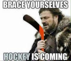Hockey is Coming! Blackhawks Hockey, Hockey Teams, Chicago Blackhawks, Hockey Players, Hockey Stuff, Flyers Hockey, Hockey Shirts, Sports Teams, Hockey Baby