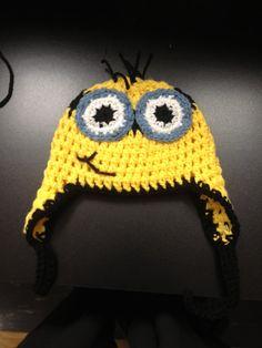 Minion Hat  Crochet for Newbornss Infants by SandyCrochets on Etsy, $15.00