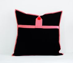 Striped double sided cushion cover 16 by 16 by AddaSplashofColour