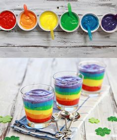 Rainbow Pudding - taste the rainbow