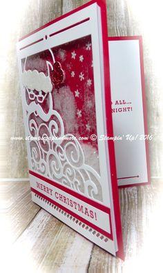 Christmas Card. Detailed Santa Thinlits Die and Greetings from Santa stamp set…