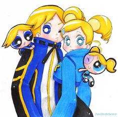Powerpuff Girls: Bubbles and Boomer Powerpuff Girls Cartoon, Powerpuff Girls Wallpaper, Power Puff Girls Z, Power Girl, Art Sonic, Bubbles And Boomer, Super Nana, Ppg And Rrb, Anime Lindo