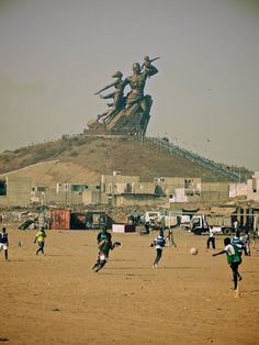 Monument to African Renaissance dakar senegal africa. This is where Ill be this summer!!!