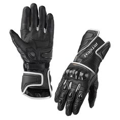 The GRAVITY motorcycle glove in full grain leather is equipped with TPU protections that safeguard fingers, forearms and wrists of your hands from potential trauma.  Carbon knuckle guard offers outstanding protection.