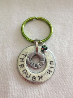 Personalized Metal Stamped Key Chains by Stampped on Etsy, $10.00/free shipping!  *New multi metallic charms added!