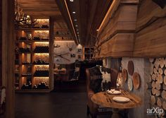 "ресторан ""Сandles Bar"": интерьер, шале, ресторан, кафе, бар, 200 - 500 м2, зал #interiordesign #shale #restaurant #cafeandbar #200_500m2 #hall arXip.com"