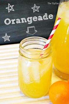 A delicious recipe for orangeade. Iced Tea Recipes, Drinks Alcohol Recipes, Punch Recipes, Sweet Recipes, Real Food Recipes, Alcoholic Drinks, Beverages, Drink Recipes, Refreshing Drinks