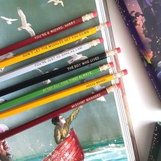 These pencils, because sometimes a quill and ink gets a little too messy: