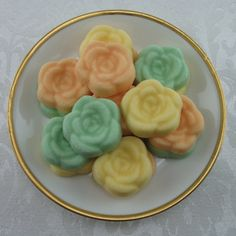 Beautiful Open Rose Shaped Sugar Cubes - For Parties, Bridal Showers & Weddings - 20 Pieces by Sugars by Sharon on Gourmly