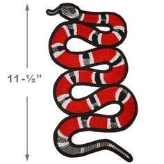 Serpiente bordados apliques de hierro-en remiendo remiendo