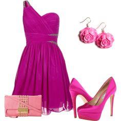 """Pink <#"" by amalerczyk on Polyvore"