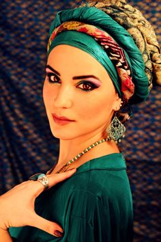 Emerald wrapped turban