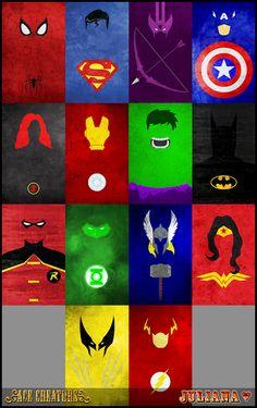 Minimalist Superheroes Posters - by Juliana | Ace Creators