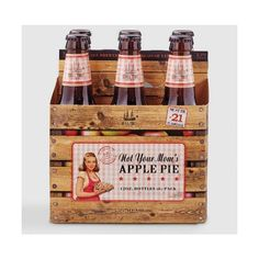 Not Your Mom's Apple Pie Beer 6 Pack World Market ❤ liked on Polyvore featuring home and kitchen & dining
