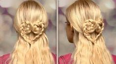 Hairstyle - Braided heart hair tutorial Cute half up half down hairstyles for long hair with extensi