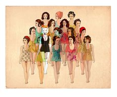 Delphine Lebourgeois, Art Prints, Photo de Classe, Ladies, Women with Wolves, – Gas Gallery - Beautiful Art & Design