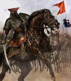 Maratha Cavalry in battlefield Fantasy Warrior, Fantasy Art, Armadura Medieval, Templer, Arabic Art, Knights Templar, Dark Ages, Medieval Fantasy, Horse Art