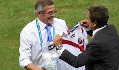 Entrenador Pinto, Partido Costa Rica - Uruguay, Mundial Fútbol Brasil 2014