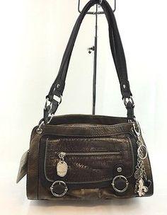 Kathy Van Zeeland Handbags Crazy Satchel Copper NWT