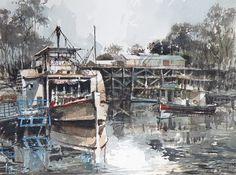 Echuca ,Murray River, Australia | by tony belobrajdic Murray River, Paddle Boat, Historic Homes, Love Art, Scenery, Olympus, Australia, Tours, Digital Camera