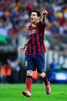 Lionel Messi of FC Barcelona reacts during the La Liga match between FC Barcelona and Real Madrid CF at Camp Nou on October 26, 2013 in Barcelona, Catalonia.