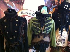 Steampunk jackets by Retro G Couture Gothic aristocrat Victorian dandy goth carnival folk time traveller tassel visual kei gypsy alternative regency magician for men and women
