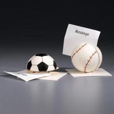 DIY Styrofoam Ball Crafts | Craft: Styrofoam baseball memo holder