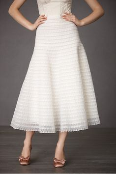 Cockle Shell Skirt $750.00 from BHLDN