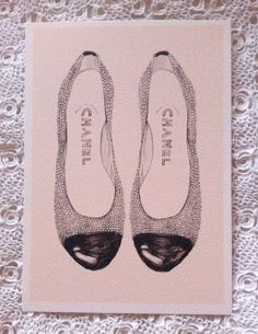 Chanel Pearl Shoes A4 giclée print by mbaileyillustrations on Etsy, $17.00