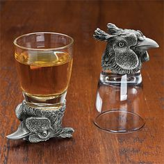 Pheasant Stirrup Cup Set