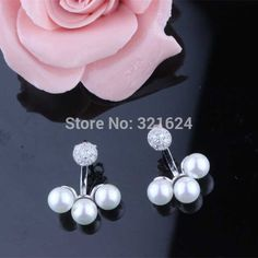Find More Stud Earrings Information about Free Shipping Designer Style New Arrival Women Sterling Silver With Platinum Plated Zircon Pearl Earring,High Quality silver red christmas tree,China silver fittings Suppliers, Cheap silver eyewear from Perfect Jewellery on Aliexpress.com