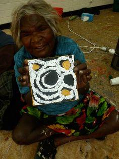 Our Studio - Mimi Art Gallery: The late great Ningura Napurrula, looking very happy.