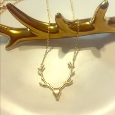 Elk Head Dainty Necklace So cute I can't stand it! Jewelry Necklaces