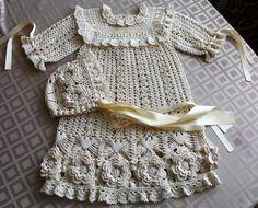 Knitting dress for baby girl. , cute baby girl dress patterns | Все о рукоделии: схемы, мастер классы, идеи на сайте labhousehold.com