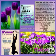 Spring Flowers Everywhere!! Thriving with Sustained Energy!! Simplicity of Three steps!! ️Livelifelove.le-vel.com get your Free customer account today. I have samples available. Cleaver.Shannon@yahoo.com