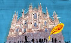 """The duomo - Milano from """"I am Milan"""", illustration book by Carlo Stanga - Moleskine"""